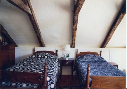 Wellfleet Cape Cod vacation rental - 2 twins in the upstairs bdrm (bed in previous pic is in same rm)