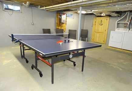 East Dennis Cape Cod vacation rental - Clean dry basement with ping pong, Foosball and laundry