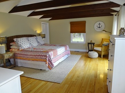 East Dennis Cape Cod vacation rental - Large king master bedroom with private bath, slider to deck