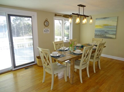 East Dennis Cape Cod vacation rental - Lovely dining area with sliders to back deck
