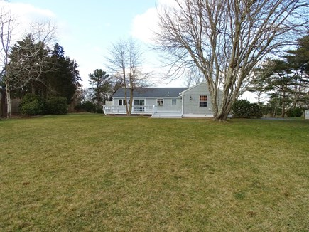 East Dennis Cape Cod vacation rental - Showing large back yard – great for games!
