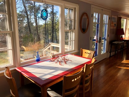 Truro Cape Cod vacation rental - Kitchen table
