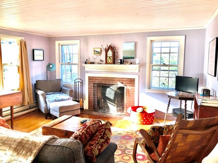 Truro Cape Cod vacation rental - Livng/TV area