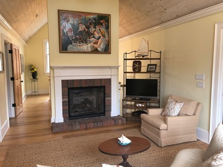 North Eastham/Bay Side Cape Cod vacation rental - 2nd floor sitting room between bedrooms & leads to rear balcony