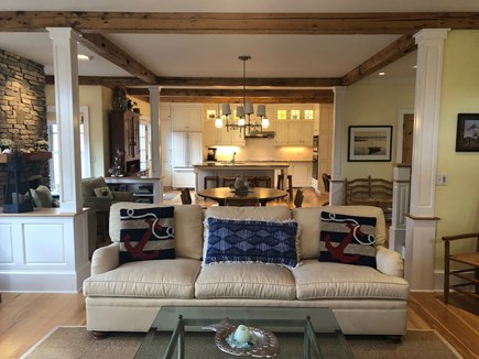 North Eastham/Bay Side Cape Cod vacation rental - Family room through to kitchen