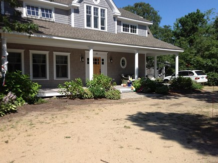 North Eastham/Bay Side Cape Cod vacation rental - Great sunny morning spot.Lush flowers in summer.