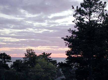 Wellfleet Cape Cod vacation rental - Awesome sunsets off the deck