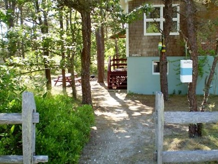 Wellfleet Cape Cod vacation rental - Private wooded area