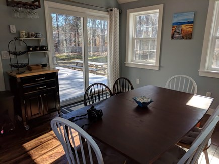 North Eastham Cape Cod vacation rental - Dining Area with sliders to the deck