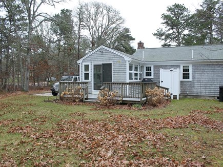 East Harwich Cape Cod vacation rental - Large Back Yard with Deck and Outdoor Shower