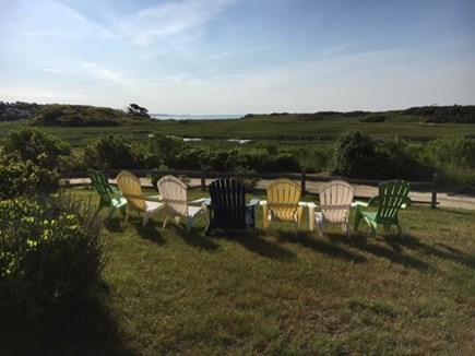 Harwich Cape Cod vacation rental - Enjoying the yard