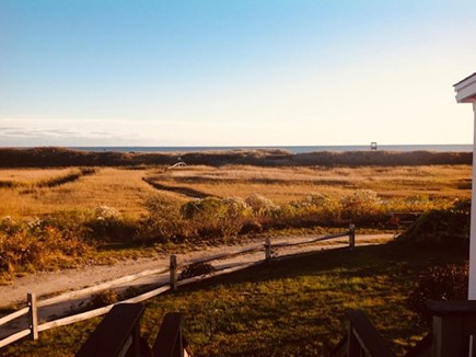 Harwich Cape Cod vacation rental - View of the path to the beach from the front yard