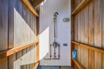 Sandwich, Sagamore Beach Cape Cod vacation rental - Outdoor shower