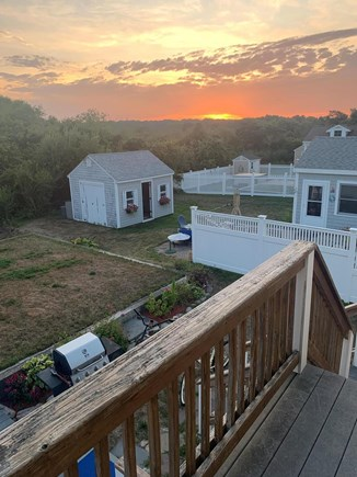 Sandwich, Sagamore Beach Cape Cod vacation rental - Sunset views from upstairs back porch