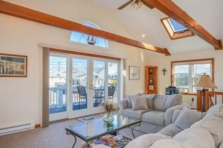 Sandwich, Sagamore Beach Cape Cod vacation rental - Large open living room with water views