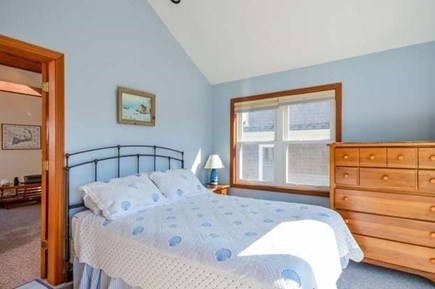 Sandwich, Sagamore Beach Cape Cod vacation rental - Master bedroom w/King bed and deck with amazing sunset views