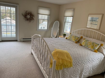 Mashpee, Popponesset Beach Cape Cod vacation rental - Master bedroom with king bed and private balcony