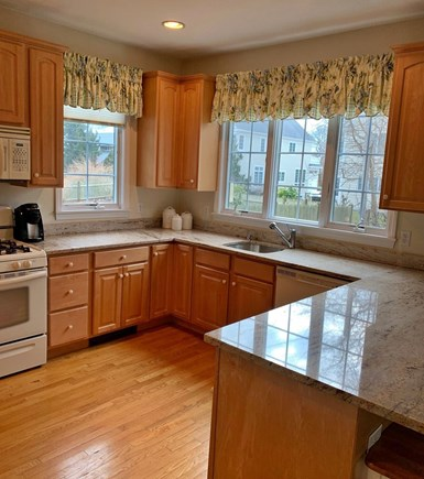 Mashpee, Popponesset Beach Cape Cod vacation rental - Spacious open kitchen with breakfast bar