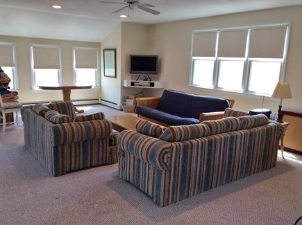 Mashpee, Popponesset Beach Cape Cod vacation rental - A second living space on 3rd floor with views of ocean.