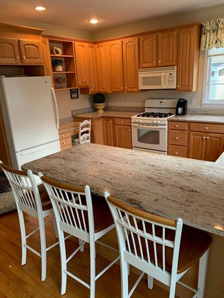 Mashpee, Popponesset Beach Cape Cod vacation rental - Kitchen with breakfast bar