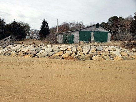 Orleans Cape Cod vacation rental - Boathouse and beach. Left side of boathouse is accessible