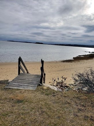 Orleans Cape Cod vacation rental - Small staircase leads to your private sandy beach