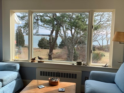 Orleans Cape Cod vacation rental - Living room with view to the Bay