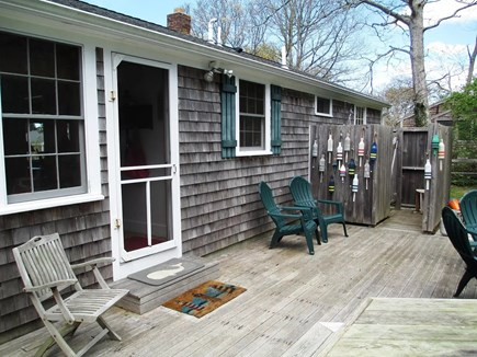 Brewster Cape Cod vacation rental - Back porch and outdoor shower