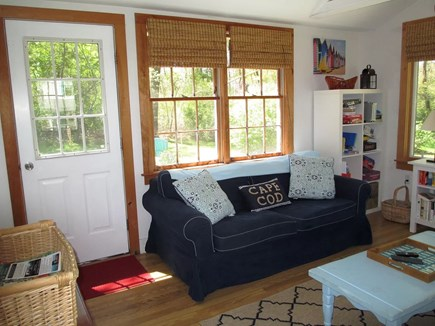 Brewster Cape Cod vacation rental - Living room and rear door