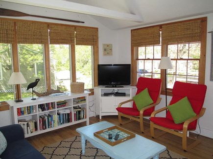 Brewster Cape Cod vacation rental - Living room w/ cable and DVD