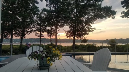 East Falmouth Cape Cod vacation rental - Sunsets from deck