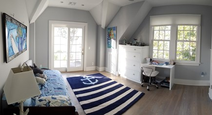 East Falmouth Cape Cod vacation rental - 2nd Floor Bedroom (Now a Queen) with Balcony