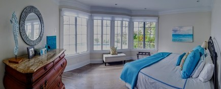 East Falmouth Cape Cod vacation rental - First Floor Master, King with Sitting Area, Pool and Waterview