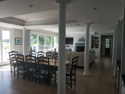 East Falmouth Cape Cod vacation rental - Open floor plan: Dining area, living room