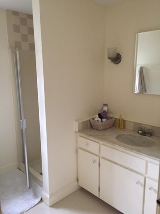 Falmouth Cape Cod vacation rental - Downstairs bathroom adjacent the Master Bedroom.
