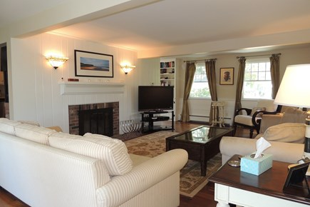 Harwich Cape Cod vacation rental - Comfortable living room with flat screen t.v.
