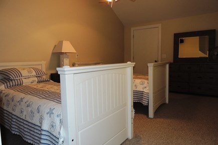 Harwich Cape Cod vacation rental - Bedroom 1 with 2 twin beds and flat screen t.v.