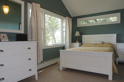 Harwich Cape Cod vacation rental - Bedroom 2 with full size bed looking toward pond