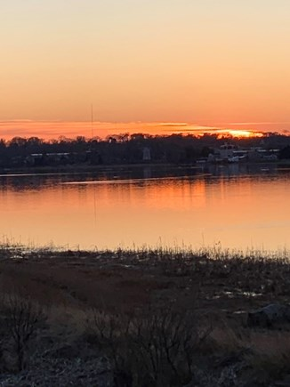 Orleans, Town Cove Cape Cod vacation rental - Sunset view from backyard