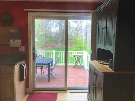 Brewster Cape Cod vacation rental - Kitchen, Access to Deck