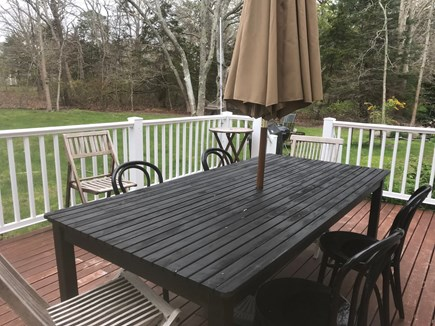 Brewster Cape Cod vacation rental - Deck Area