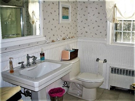 Yarmouth Port Cape Cod vacation rental - Upstairs full bath with enclosed tub and shower