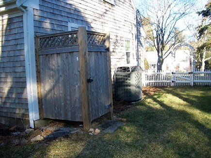 Yarmouth Port Cape Cod vacation rental - Enclosed Outside Shower