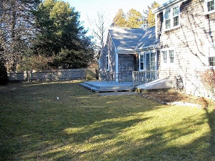 Yarmouth Port Cape Cod vacation rental - Large fenced backyard