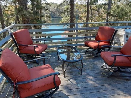 Falmouth Cape Cod vacation rental - Great peaceful sitting are on large porch overlooking pond