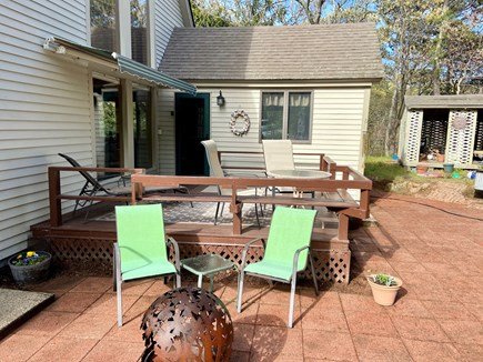Brewster (Blueberry Pond)  Cape Cod vacation rental - Deck and yard for enjoying barbeques