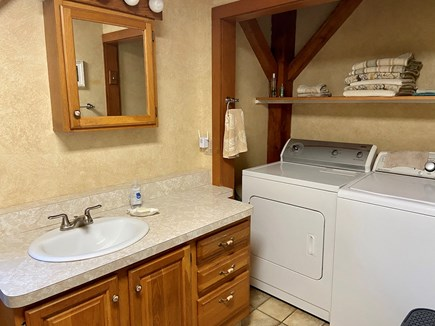 Brewster (Blueberry Pond)  Cape Cod vacation rental - First floor full bathroom with washer and dryer