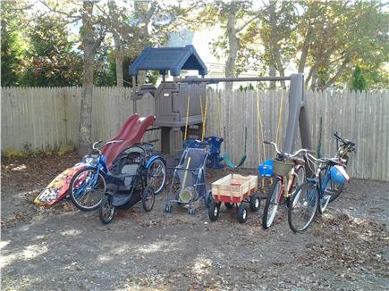 South Yarmouth Cape Cod vacation rental - Swingset, bicycles, wagons, strollers, boogie boards and more!