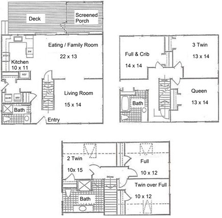 South Yarmouth Cape Cod vacation rental - Floor plans