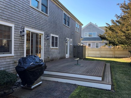 North Falmouth Cape Cod vacation rental - Deck (6 person patio set not shown) with grill, outdoor shower